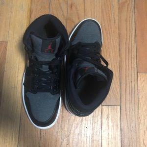 f09768da569e6d Nike Shoes - Air Jordan 1 Mid Winter Black Dark Grey